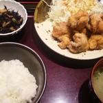 38398588 - から揚げ定食¥1000