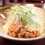 さらさ花遊小路 - 鶏もも肉の唐揚げともやしたっぷり白湯あんかけ御飯