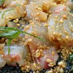 若松食堂 - 「今日のづけ丼(鯛)」鯛の切り身