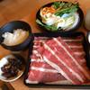 どん亭 - 料理写真:熟成牛ロースしゃぶしゃぶ定食大盛り 1090円税抜