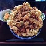 そば茶屋矢秀庵 - 料理写真:かき揚げ丼¥1,200