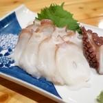桜新町 - 料理写真:2014年8月 タコ刺身【580円】新鮮なタコ!