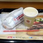 バーガーキング - ホットドッグエッグコンビモーニング290円