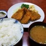 三好弥 - アジフライ定食(600円)