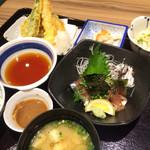 七菜彩 - ゴマサバ、天ぷら定食