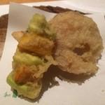 天ぷら&ワイン 芦屋 いわい - ふかひれ、空豆&南瓜