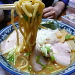 麺堂かのん - 太麺アップ