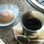 彦 - 得々セットについてる 珈琲と女性限定のアイス