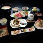 萱笑 - コース料理9品4000円(税別)要予約です 季節により内容は変わります