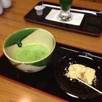 ふうみん庵 - 抹茶+わらび餅