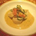 38419501 - 貝柱・イカ・タコの温かい前菜