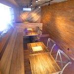 浜辺のTipi Cafe - 室内ベンチ席