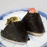 くげぬまライス - ピリ辛高菜漬け、玄米紀州南高梅