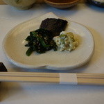 てんぷら 鶴吉 - 料理写真:前菜:お浸し、白和え等