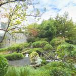 レストラン アンソレイユ - 緑あふれる庭園