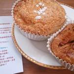 cafe 帆呂 horo - メロンパンとくるみのデニッシュ