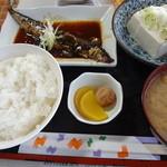 柳屋 - サンマの甘露煮定食