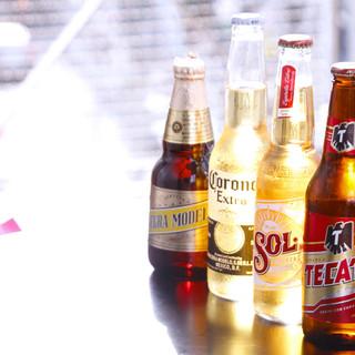 ビールやカクテルなどドリンクの品揃えも豊富♪