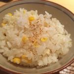 38429785 - 昼御膳の炊き込みごはんはシラスとトウモロコシごはん