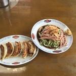 食堂みのり - 料理写真:冷やし中華と餃子