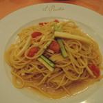 イル・ピアット オチアイ - シチリアンアンチョビとズッキーニ フレッシュトマトのスパゲッティ