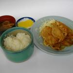 嬉野パーキングエリア(上り線)フードコート - 当店人気の生姜焼き定食