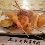 Toramarusuisan - 串カツ盛り合わせ 680円