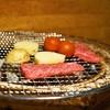 ファンボギ - 料理写真:2015.5 鮎の熟れ鮓クリームと本日の熟成赤身と焼やさい(2,300円)