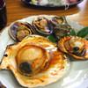 ふる里館 - 料理写真:貝づくし定食の貝(伊勢エビ味噌汁付き・漬物・酢の物付)1620円