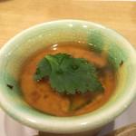 拓 - あん肝とウニの茶碗蒸し