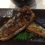 拓 - 秋刀魚の梅煮 山椒添え