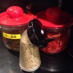 初代 哲麺 - 無料トッピング、魅惑の三点セット!