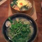 山椒 - 山椒(鹿児島市千日町)盛り合わせわっぱ定食(貝汁付き)1580円