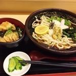 勝ち組 - 日替わり(とり天丼+おろしぶっかけ)750円♪