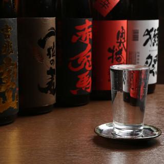 厳選した日本酒・焼酎