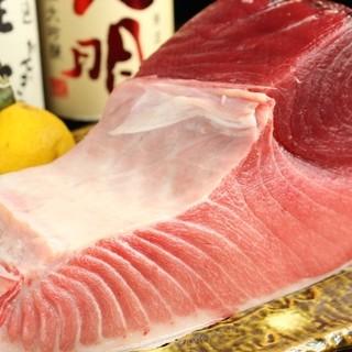厳選した魚を仕入れるため、食材に合わせて仕入先も変更