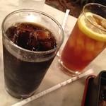 38461888 - アイスコーヒー、レモンティー