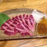 炭火居酒屋 のんべえ - 【美味!】長男●砂肝の刺身