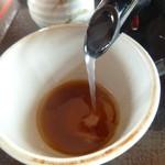 羊蹄山 - 蕎麦湯は釜湯