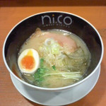 ラーメンニッコウ - ラーメンニッコウ(滋賀県彦根市)鶏白湯塩700円