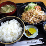 浜乃家 - 「豚の生姜焼き定食」(700円)。