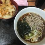 高幡そば - ミニかき揚げ丼&お蕎麦のセット500円(2015.5.29)