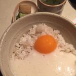 鳥吉 - 麦とろご飯