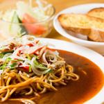 スパゲッティハウス かみむら - 料理写真:ミラカン(赤ウィンナー、ベーコン、ピーマン、玉葱、マッシュルーム)