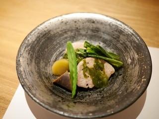 スナガ - 豚ヒレのソテー 生海苔ソース