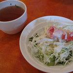 ナル・プー・ラ - ランチセット:サラダ・スープ (2009_10_7 撮影)