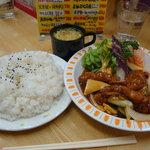 順園 - 酢豚定食ライス大盛り 820円