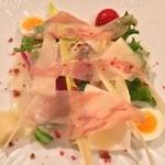 アカーチェ - グアンチャーレのサラダ仕立て レモンソース