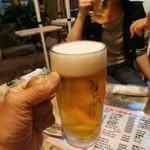 ビヤガーデン 博多屋 - ビール中