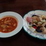 38480760 - 本日のスープと前菜盛り合わせ
